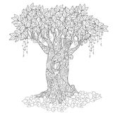 Árbol lindo del cuento de hadas del bosque mágico Fotos de archivo
