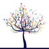 Árbol musical Imagen de archivo libre de regalías