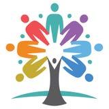 Árbol unido de la gente Foto de archivo