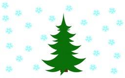 ?rbol verde de Navidad Imagen de archivo libre de regalías