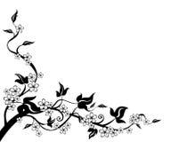 Árbol y flor Foto de archivo libre de regalías