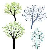 ?rboles decorativos ilustración del vector