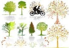 Árboles del otoño - vector Fotos de archivo libres de regalías