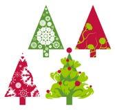 Árboles del vector de la Navidad Fotos de archivo