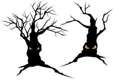 Árboles espeluznantes del monstruo Imágenes de archivo libres de regalías