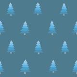Árboles inconsútiles Nevado Fotos de archivo