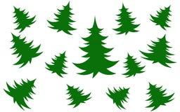 ?rboles verdes de Navidad Imagen de archivo libre de regalías