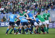 RBS 6国家2015年;意大利-爱尔兰, 3-26 库存图片