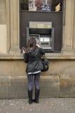 RBS Cashpoint Stirling Scotland het UK royalty-vrije stock afbeeldingen