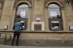 RBS Cashpoint Stirling Scotland UK Arkivbild