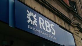 RBS (The Royal Bank of Scotland) logo. The Royal Bank of Scotland logo stock images