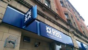 RBS (The Royal Bank of Scotland) logo. The Royal Bank of Scotland logo stock photo