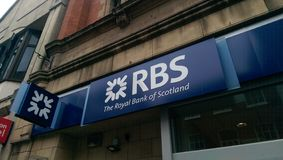 RBS (The Royal Bank of Scotland) logo. The Royal Bank of Scotland logo stock image