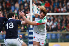 RBS 6 NATIONS 2014 - ITALY vs SCOTLAND; JOSHUA FURNO Stock Photos