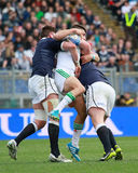 RBS 6 NATIONS 2014 - ITALY vs SCOTLAND; TOMMASO AL Royalty Free Stock Image