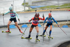 RBU Championship of Russia in the summer biathlon in Sochi Stock Image