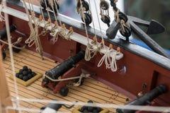 RC在竞争的比例模型船 免版税库存照片