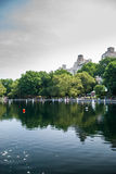 RC βάρκες στη λίμνη του Central Park Στοκ Φωτογραφίες