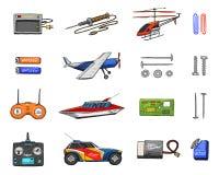RC μεταφορά, πρότυπα τηλεχειρισμού παιχνίδια ή όργανα καθορισμένες λεπτομέρειες συσκευές, εξοπλισμός, εργαλεία για την υπηρεσία κ ελεύθερη απεικόνιση δικαιώματος
