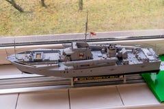 RC πρότυπο σκάφος κλίμακας στους ανταγωνισμούς στοκ εικόνες