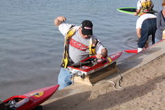 RC Boat Racer Stock Photography