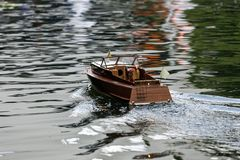 RC boat Stock Image