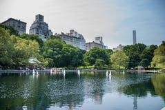 RC boten in Central Parkmeer Royalty-vrije Stock Afbeeldingen