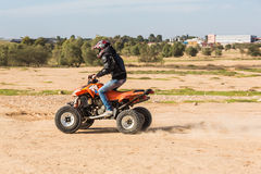 RC buggy in the desert Stock Photography