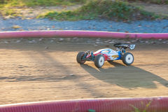 RC buggy  toy car in a rally championship race Stock Photos