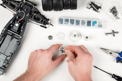Rc car assembly gear Royalty Free Stock Photography