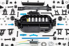 RC car assembly kit Royalty Free Stock Image