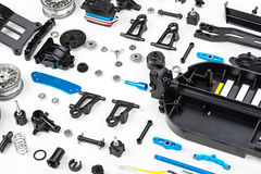 RC car assembly kit Royalty Free Stock Photography