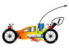 RC car cartoon. RC buggy car cartoon isolated over white background Royalty Free Stock Photography
