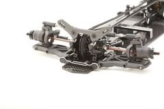 RC Car Chassis and Parts. Being built to form a radio controlled race car Stock Photography