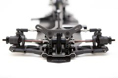 RC Car Chassis and Parts. Being built to form a radio controlled race car Royalty Free Stock Image