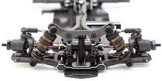 RC Car Chassis and Parts. Being built to form a radio controlled race car Stock Photos