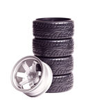 RC drift tires & rims Stock Photos
