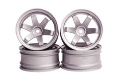 RC drift tires and rims Royalty Free Stock Images
