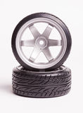 RC drift tires and rims Royalty Free Stock Photos