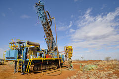 RC Drill Rig. In Outback Australia Royalty Free Stock Image