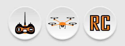 RC drone icons Stock Image