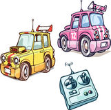 RC dwa samochodu Zdjęcia Royalty Free