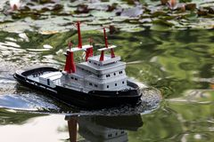 RC harbor tug Royalty Free Stock Image