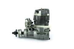 Rc helicopter engine on white background Royalty Free Stock Photo