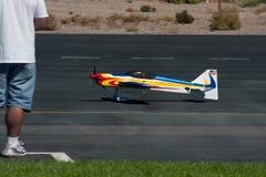 RC het vliegtuig van de lucht Stock Afbeelding