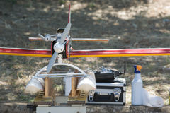 RC Hydroplane on ground Stock Photography