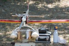 RC-Hydroplane på jordning Arkivbild