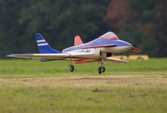RC Jet Landing photos stock
