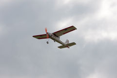 RC model airplane flying in the sky Stock Photos