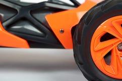 RC modela wiec z rajdu samochodowego powozika zakończenia up szczegółu, Makro- samochód obrazy royalty free